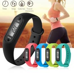 Cyfrowy LCD Walking Odległość Krokomierz Run Krok Walking Odległość Licznik Kalorii Wrist Kobiety i Mężczyźni Sport Fitness Zega