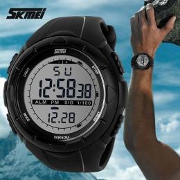 2018 Nowy Skmei Marka Mężczyźni Wojskowy Zegarek LED Cyfrowy, 50 M Dive Swim Sukienka Zegarki Na Rękę Zegarki Sportowe Moda Na Z