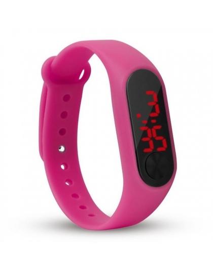db4afd828d186b Moda dzieci dziewczyny chłopcy dzieci studenci sport led cyfrowy ekran  dotykowy guma silikonowa prezent zegarki zegarki