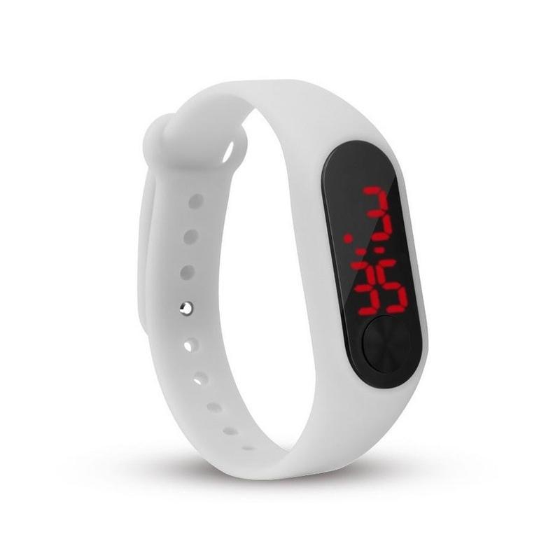 15e5857c461513 ... Moda dzieci dziewczyny chłopcy dzieci studenci sport led cyfrowy ekran  dotykowy guma silikonowa prezent zegarki zegarki ...