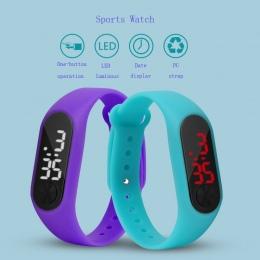 Dzieci Zegarek Led Sport Dzieci Zegarki Mężczyźni Kobiety PU Elektroniczny Cyfrowy Zegar Na Rękę Bransoletka Dla Chłopców I Dzie