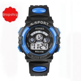 2017 Wodoodporna Dzieci Chłopiec Cyfrowy LED Alarm Data Quartz Wrist Watch Sportowe dropshipping