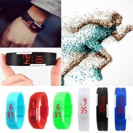 2018 LED Cyfrowy Zegarek Elektroniczny Zegarki Kobiety Mężczyźni Dzieci Sport Watch Kreatywny Kalendarz Kolorowe Gumowe Intelige