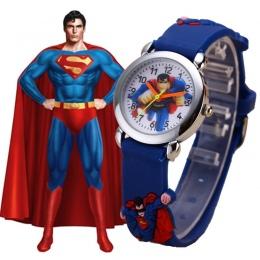 Dzieci Zegarki 3D Superman Cartoon Watch Casual Chłopcy Sport Zegarki Kwarcowe Dzieci Zegarek Zegar Godziny Relojes Relogio Saat