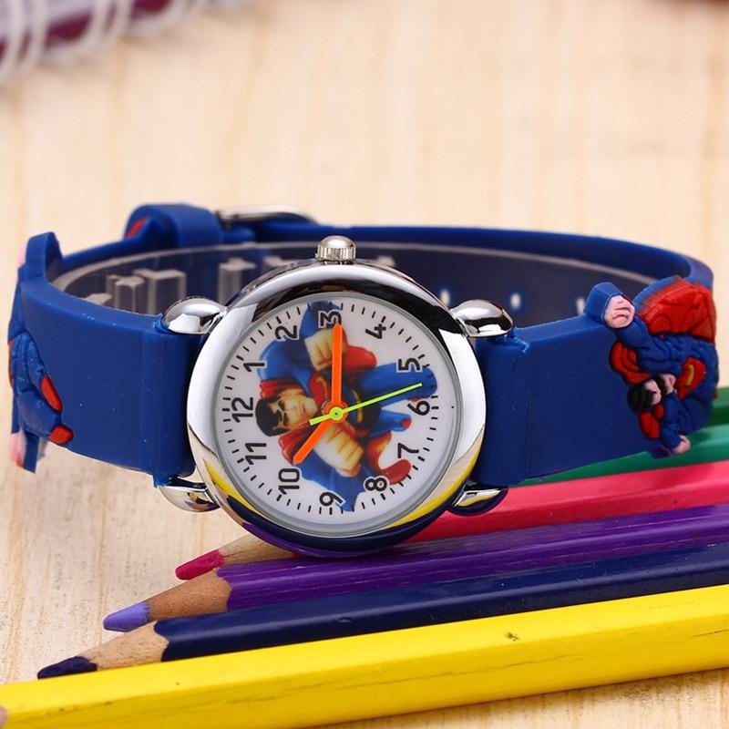 84053438928b9e ... Dzieci Zegarki 3D Superman Cartoon Watch Casual Chłopcy Sport Zegarki  Kwarcowe Dzieci Zegarek Zegar Godziny Relojes ...