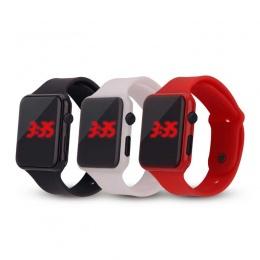 Dzieci moda zegarek Czerwona dioda Chłopiec dziewczyna dostawca energii elektrycznej elektroniczny Uczeń zegarki
