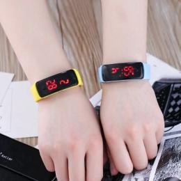 JOYROX Mody Wyświetlacz LED Cyfrowy Zegarek Sportowy Gorące Pasek Silikonowy Zegarek Dla Dzieci Dziewczyny Chłopcy Dzieci Cukier