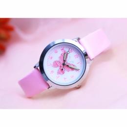 Marka odzieżowa Dla Dzieci Zegarki Dzieci Kwarcowy Zegarek Uczeń Dziewczyny zegarek Kwarcowy-Cute Kolorowe Motyl Wybierania Wodo