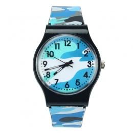 Nowe Mody Kamuflaż Dzieci dzieci Zegarek Kwarcowy Zegarek Dla Dziewczyny Boy Niebieski zegarki reloj mujer zegarki Dropshipping