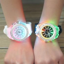 Szkoła Boy Dziewczyna Zegarki Elektroniczne Kolorowe Źródło Światła Siostra brat Urodziny dla dzieci Prezent Zegar Moda dziecięc