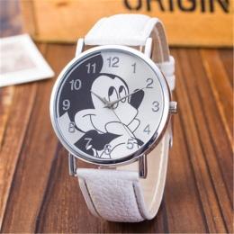 Moda Zegarki Dzieci Kobiety Panie Dziewczyna Skórzany Zegarek Kwarcowy Dzieci Wrist Watch Zegar cartoon kobieta relogio feminino