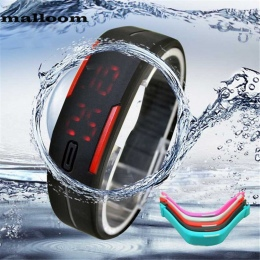 2018 Silikon Led Zegarki Sportowe Mężczyźni Kobiety Ubierają Dzieci Elektroniczny LED Cyfrowy Zegarek Człowiek Panie Rano Do Bie