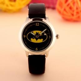 Batman Dzieci Mody Zegarki Kwarcowe Zegarki Na Rękę Wodoodporna Galaretki kol saati Zegar Dla Dzieci chłopcy dziewczęta Studenci