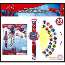 FD Kreatywny Odbicie Dzieci Zegarek Cute Cartoon Wzór Spiderman Fajne Wyświetlacz LED zabawki Dla Dzieci Zegar Hot Nowe Dziewczy
