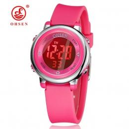Dzieci Zegarki Dzieci Cyfrowy LED Moda Sport Watch Słodkie chłopcy dziewczyny Wrist watch Wodoodporna Prezent Alarm Zegarek Mężc