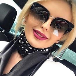 RSSELDN Najnowszy Semi-rimless Okulary Przeciwsłoneczne Damskie Marka Projektant Clear Lens Okulary Dla Kobiet Mody Okulary W St