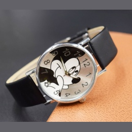 8 kolory Cute cartoon zegarek kwarcowy dzieci skóra zegarek Mickey zegarki kid boy kobiety dziewczyny relojes