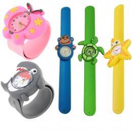 3D Śliczne Urocza Kreskówki Uczeń Kwarcowy Zegarek Zwierząt Silikonowe Sport Dzieci Wrist Watch Unikalny Wzór Chłopcy Dziewczyny