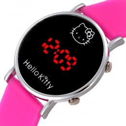 Kot Kreskówki Hello Kitty Zegarka Dziecko Zegar Dzieci Wyświetlacz Led Na Rękę Dziewczyny Dzieci Dziecko Zegar Śliczne Silikonow