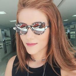 2017 New Women Marka Projektant Vintage Połowa Ramki Okulary dla Kobiet Sexy Cat Eye Okulary Mody Retro Okulary AB19 AB20