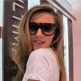 2018 Moda Okulary Kobiety Flat Top Styl Marka Projekt Vintage Sun Shades Big Rama Odcienie UV400 okulary Kobiet Nitu