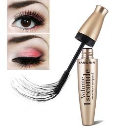 Damski Czarny Oczu Mascara Długie Rzęsy Pędzel Silikonowy Kręty Wydłużenie Mascara Wodoodporny Makijaż Nowy FM88