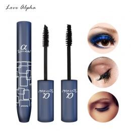 MIŁOŚĆ ALPHA Wodoodporna Wydłużenie Mascara Makeup Curl Gruby Mascara Czarny Długie Rzęsy makijaż Kosmetyki Oczy 3D Gruby Mascar