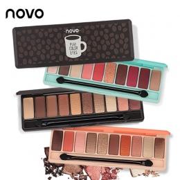 NOVO Moda eyeshadow paleta 10 Kolorów Matte EyeShadow naga palette Glitter eye shadow Makijaż Nago Makijaż zestaw Korea Kosmetyk