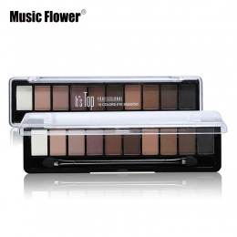Profesjonalny Makijaż Marka Kolor Ziemi 10 Kolorów Eyeshadow Paleta Glitter Eye Palette Maquiagem Matte Silky Pigmenty Cień Do O
