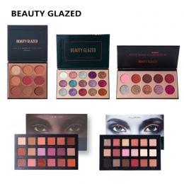 PIĘKNO SZKLIWIONE Glitte Eyeshadow Palete Make up Eye Shadow palette długotrwała Łatwe Do Noszenia Eyeshadow Matowy Shimmer somb