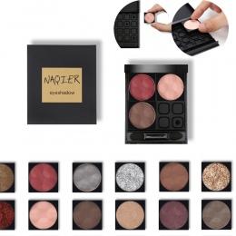 NAQIER klienta oczy makijaż DIY połączenie eyeshadow Nago paleta matowy cień do oczu glitter powder cienie zestaw Kupić 4 kolor