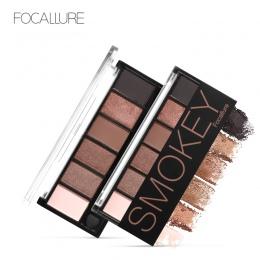 FOCALLURE 6 Kolorów Eyeshadow Paleta Glamorous Smokey Eye Shadow Shimmer Kolory Makijaż Kit przez Focallure