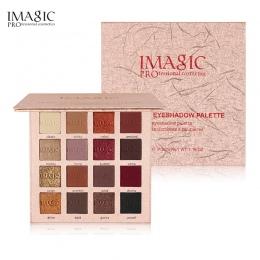 IMAGIC Nowy Shimmer Eyeshadow 16 Kolory Palette Matte Eyeshadow Glitter Palette Makijaż Zestaw Kosmetyczny