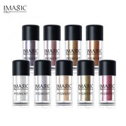 IMAGIC Nowy Eyeshadow Luźne Pigment Cienie Oczy Metalowe Glitte Proszek Metaliczny Luźne Cień do powiek Kolor Makijaż