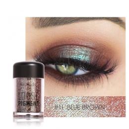 FOCALLURE 18 Kolory Glitter Eyeshadow Powder Wodoodporny Luźne Metaliczny Shimmer Eyeshadow Pigment Powder 3D Nude Eyeshadow Pow