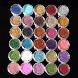 30 sztuk Mieszane Kolory Proszek Pigment Glitter Mineralnej Spangle Eyeshadow Makijaż Kosmetyki Zestaw Makijaż Shimmer Shining C