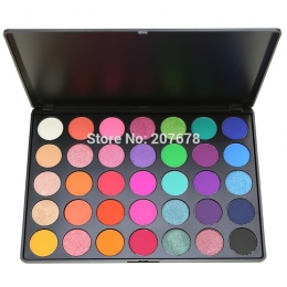 35 kolor Eyeshadow Pallete Gorgeous Silky Powder Profesjonalne Natura Make up Palette Smoky Ciepłe Matte Lśnienie Eye Shadow 35E
