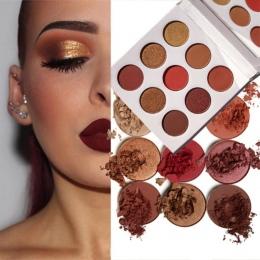 9 kolory Eye Shadow Palette Natural Shimmer Matte Eyeshadow Powder Marka Profesjonalne Makijaż Oczu Pallete Maquiagem