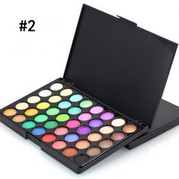 Popfeel 40 Kolory Makijaż Oczu Primer Luminous Matte EyeShadow Brokat Diament ShimmerEye Eye Shadow Prezent