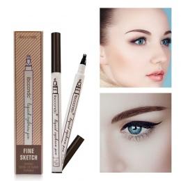 3 kolory Microblading Brwi Tattoo Pen Grzywny Szkic Cieczy Brwi Pen Wodoodporna Tatuaż Trwałe Eye Brow Pencil Rozmazywanie-dowód