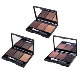 3 kolor Brwi Powder Palette Kosmetyczne Marki Eye Brow Wzmacniacz Profesjonalny Wodoodporny Makijaż Oczu Cień Z Brush Okno Lustr