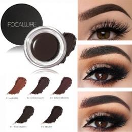 FOCALLURE 5 Kolor Henna Brwi Odcień Makijaż Wodoodporny Brwi Pomada Żel Wzmacniacz Kosmetyczne Makijaż Oczu Eye Brow Krem z Pędz