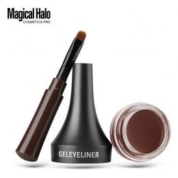 Magiczne Halo Makijaż Wodoodporny Zamek Kolor Kremowy Żel Brwi Ołówek 2 Kolory Odcień Brązowy 3D Naturalne Brwi Brwi Pen z szczo