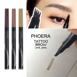 Wysokiej Jakości Kobiety Tatuaż Brwi Ołówek Wodoodporna długotrwałe Widelec Tip Microblading Makijaż Ink Szkic Eye Brow Długopis