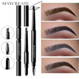 Nowy Marka wielofunkcyjny Wodoodporny Makijaż Brwi Kredki Długotrwałe Pigmenty Czarny Brązowy Kolor Eye Brow Pen z Brush
