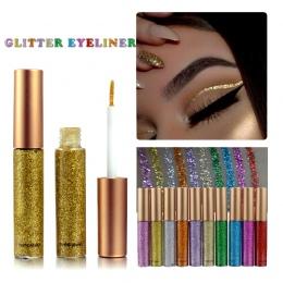 HANDAIYAN Marka 1 sztuk Glitter Eyeliner Pen 10 Kolory Metaliczny Połysk Eye Shadow & Liner Połączenie Ołówek Makijaż Oczu