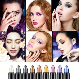 15 Kolory Wyróżnienia Brokat Eyeshadow Pencil Kosmetyczne Cień do Oczu Eyeliner Pen