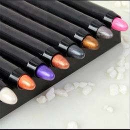 2017 Nowy 1 pc Urody 24 Różne Kolory Wyróżnienia Brokat Eyeshadow Pencil Kosmetyczne Cień do Oczu Eyeliner Pen