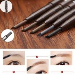 5 kolory Uroda Kobiety Wodoodporna Eye Brow Czarny Brązowy Eye Liner Pencil Brwi Z Brush Długotrwały Makijaż Narzędzia Kosmetycz