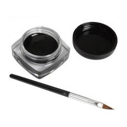 Nowe Top Moda Nowość 1x Eyeliner Gel Cream Z Pędzlem Do Makijażu czarny Wodoodporny Eyeliner 100% brand new i wysokiej jakości A